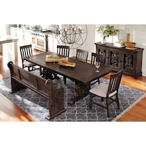 charthouse dark brown  pc dining room