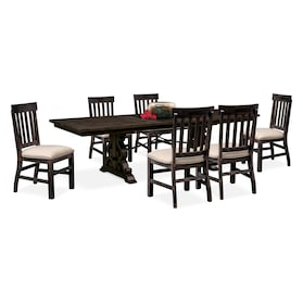 Charthouse Rectangular Dining Table and 6 Dining Chairs