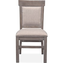 charthouse gray upholstered side chair