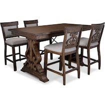 charthouse light brown  pc counter height dining room