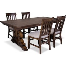 charthouse light brown  pc dining room