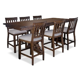 Charthouse Counter-Height Dining Table and 6 Stools