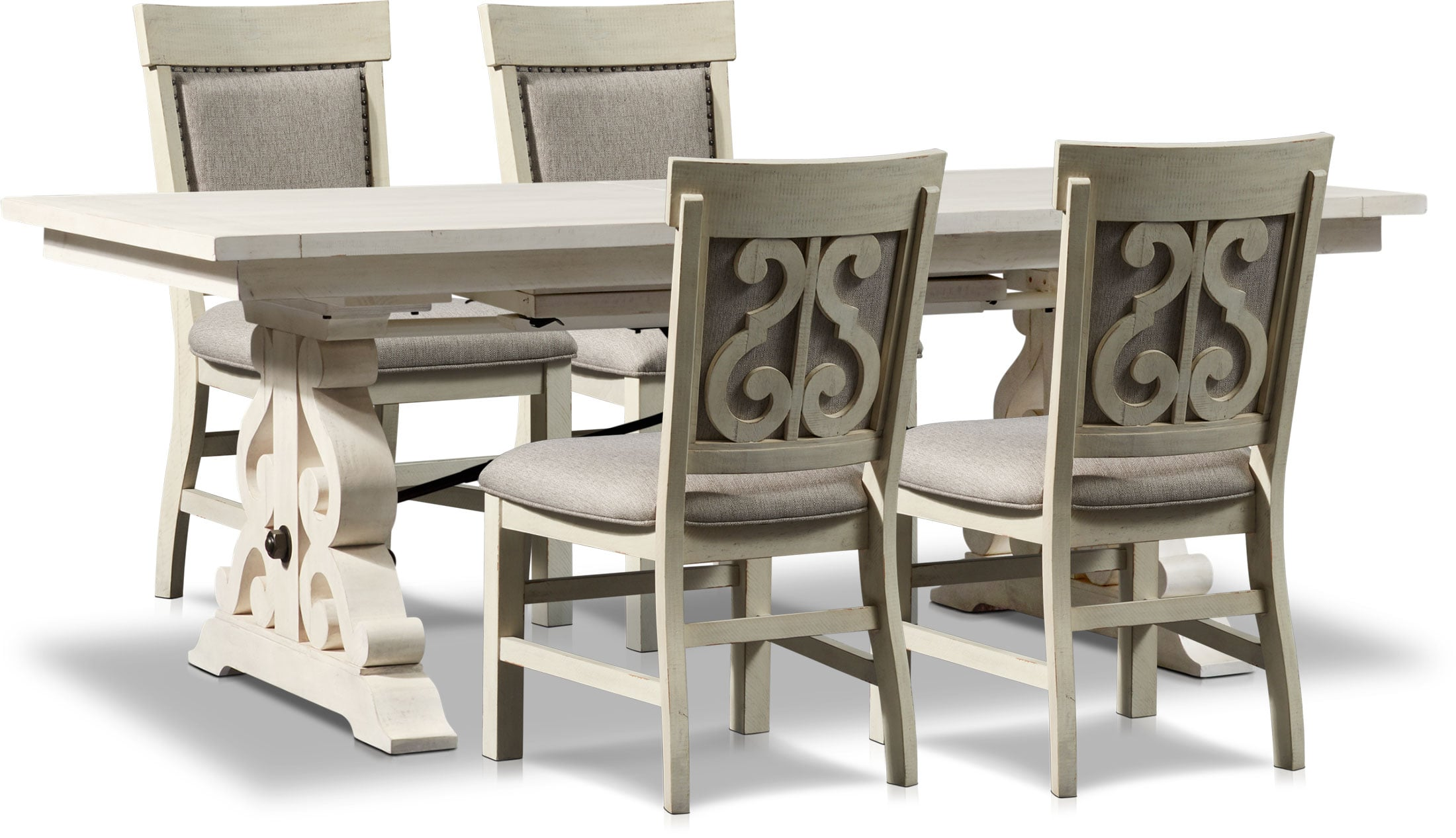 Charthouse Rectangular Dining Table And 4 Upholstered Side Chairs American Signature Furniture