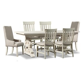 Charthouse Rectangular Dining Table, 2 Host Chairs and 4 Dining Chairs