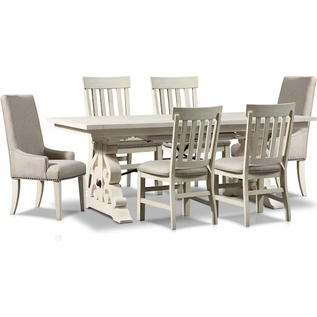 Dining Room Furniture - Charthouse Rectangular Dining Table, 2 Host Chairs and 4 Dining Chairs