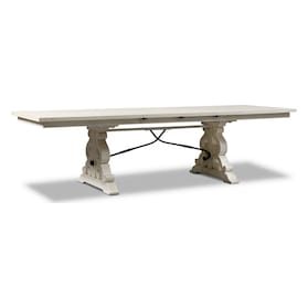 Charthouse Rectangular Dining Table, 2 Host Chairs and 4 Upholstered Dining Chairs
