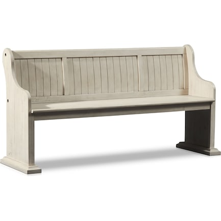 Charthouse Dining Bench - Alabaster