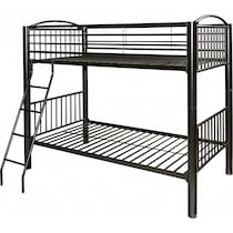 chase black twin over twin bunk bed