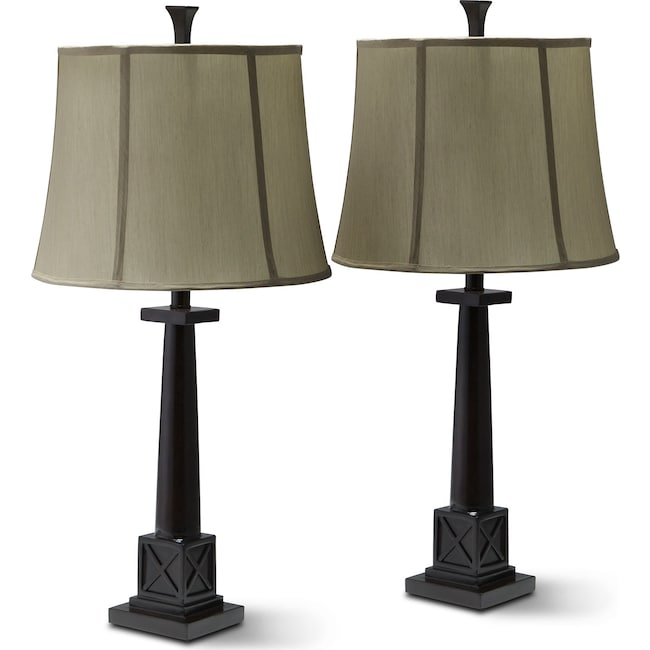 Home Accessories - Chase Set of 2 Table Lamps