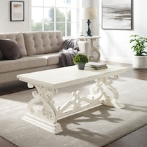 chasen white coffee table