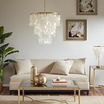 chino white chandelier