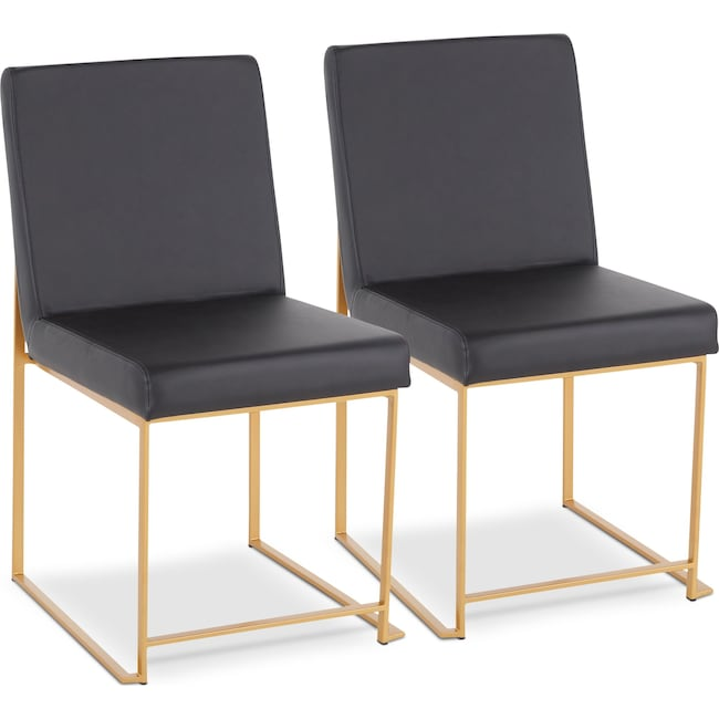 Dining Room Furniture - City Set of 2 Dining Chairs
