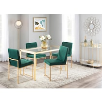 city green dining chair