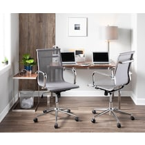 city silver office chair