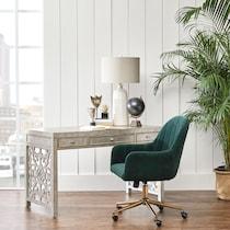 claren green office chair