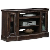 claridge tobacco dark brown tv stand