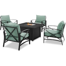 clarion outdoor living blue outdoor chair set
