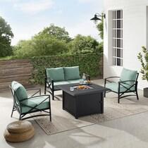 clarion outdoor living blue outdoor loveseat set