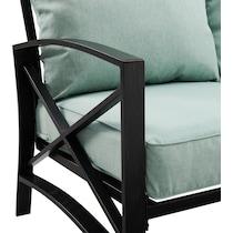 clarion outdoor living blue outdoor sofa set