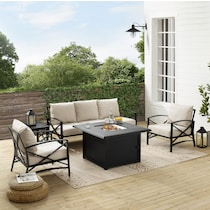 clarion outdoor living light brown outdoor sofa set