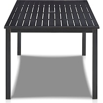 clarion black outdoor dining table