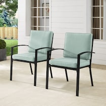 clarion blue outdoor chair set