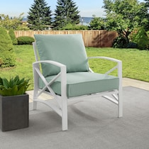 clarion blue outdoor chair