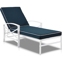 clarion blue outdoor chaise