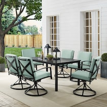 clarion blue outdoor dinette
