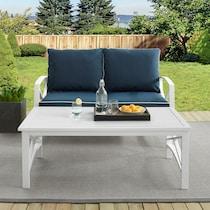 clarion blue outdoor loveseat set