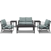 clarion blue outdoor loveseat set