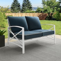 clarion blue outdoor loveseat