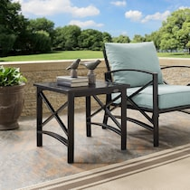 clarion dark brown outdoor end table