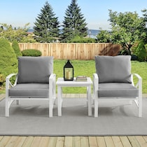 clarion gray outdoor chair set