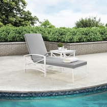 clarion gray outdoor chaise