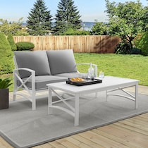 clarion gray outdoor loveseat set