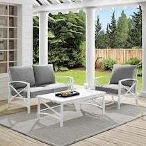 clarion gray outdoor loveseat set