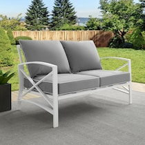 clarion gray outdoor loveseat