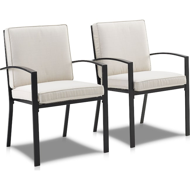Outdoor Furniture - Clarion Set of 2 Outdoor Dining Chairs