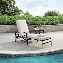 clarion light brown outdoor chaise