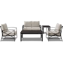 clarion light brown outdoor loveseat set