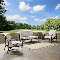 clarion oatmeal outdoor loveseat set