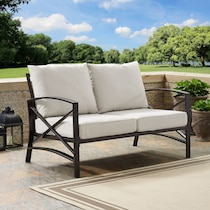 clarion oatmeal outdoor loveseat