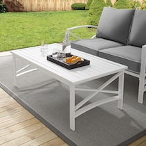 clarion white outdoor coffee table