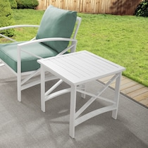 clarion white outdoor end table