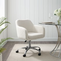 coco white office chair