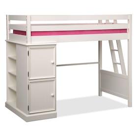 Colorworks Loft Bed - White