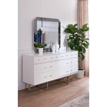 concerto white dresser & mirror