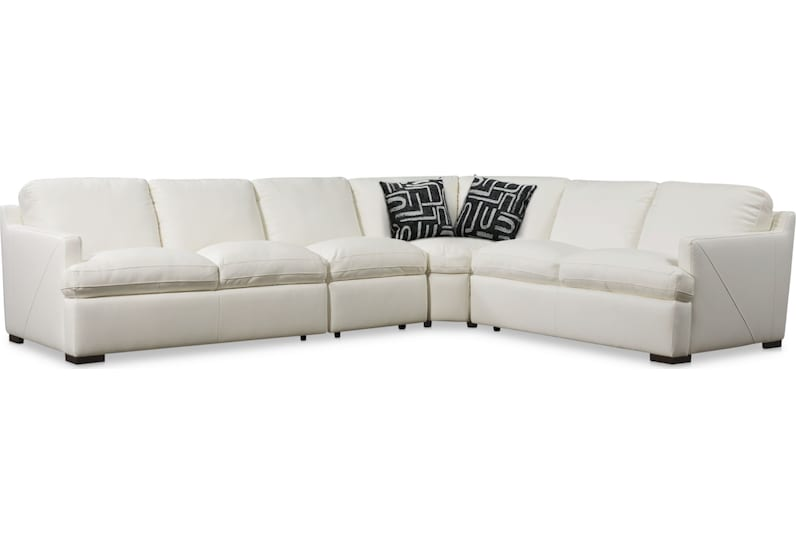 conroy white  pc sectional