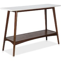 copa white pecan console table